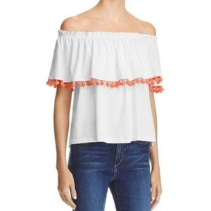 NWT Current/Elliot Off The Shoulder Ruffle Blouse